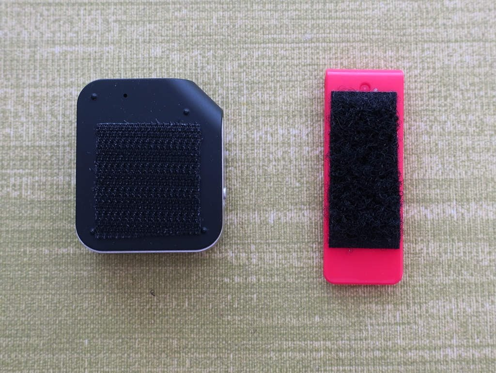 Bluetooth receiver, attaching clip with velcro tape