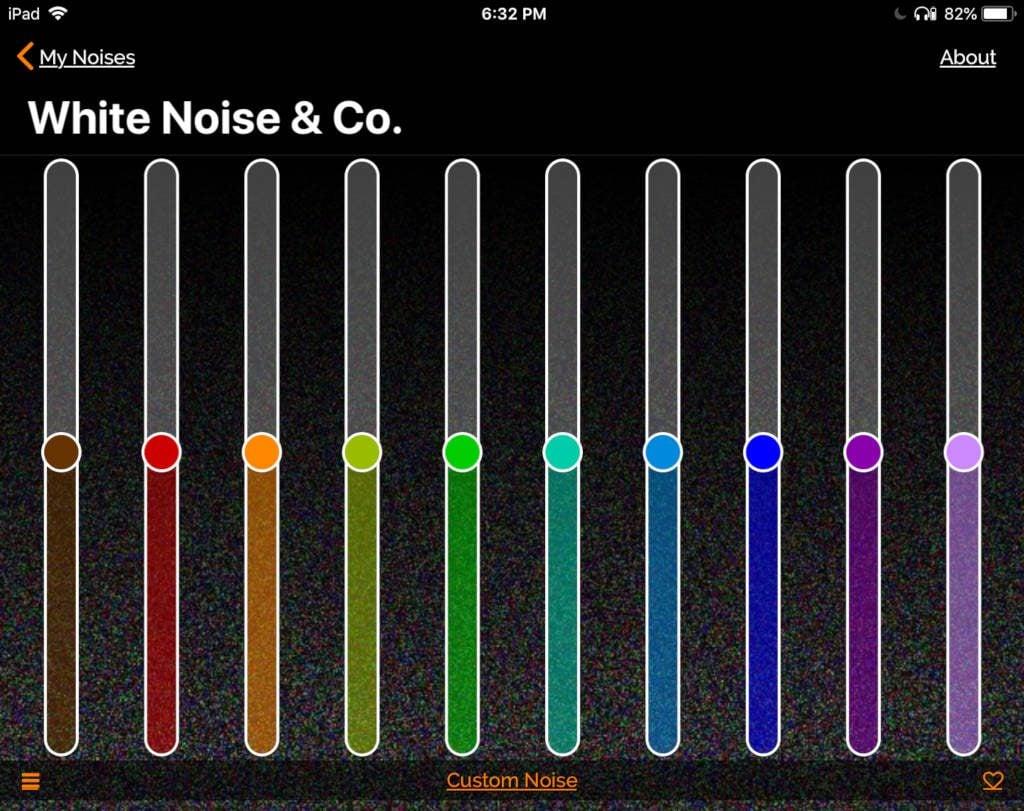 myNoise pink noise preset