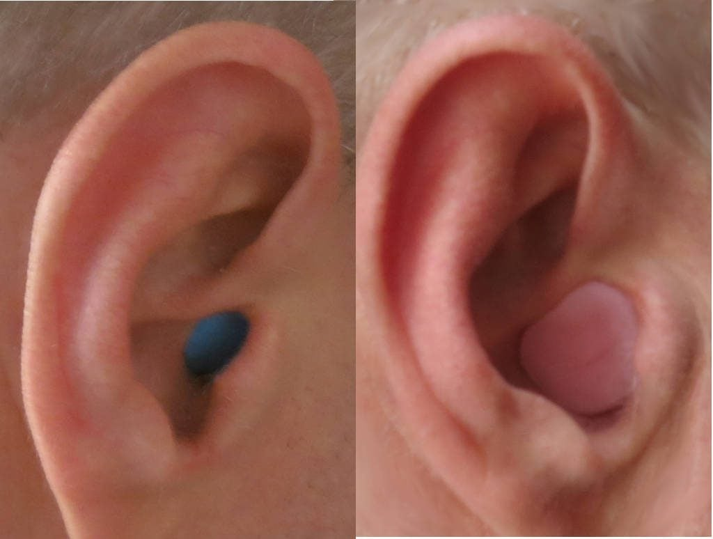 foam vs wax earplugs in ear