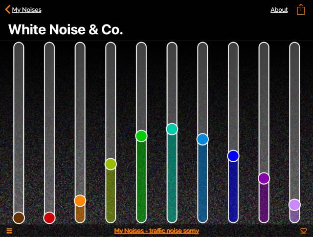 white noise shaped for traffic noise ANC headphones
