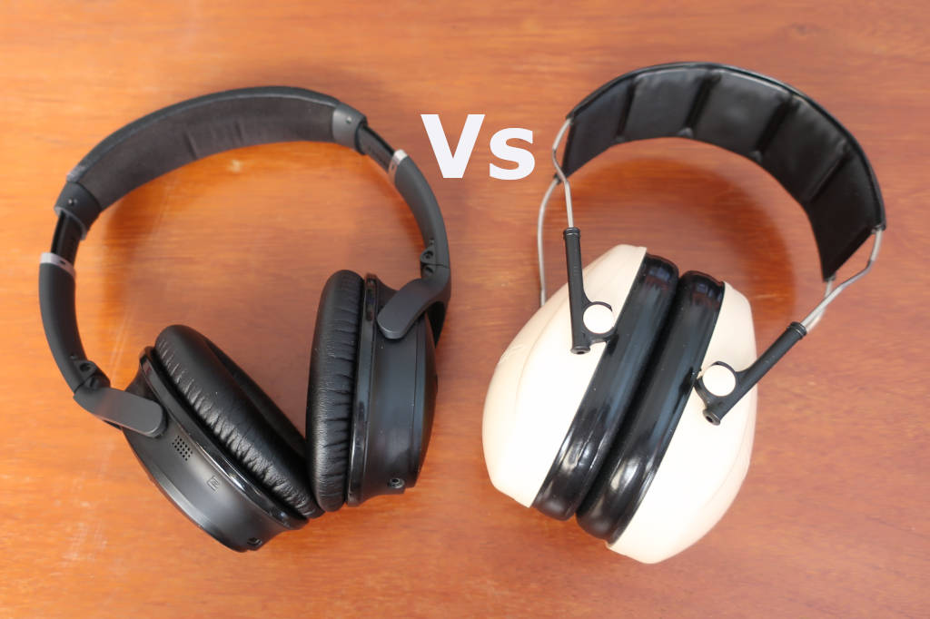 noise cancelling headphones vs earmuffs