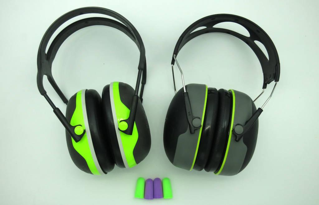 earmuffs and earplugs against firework-noise